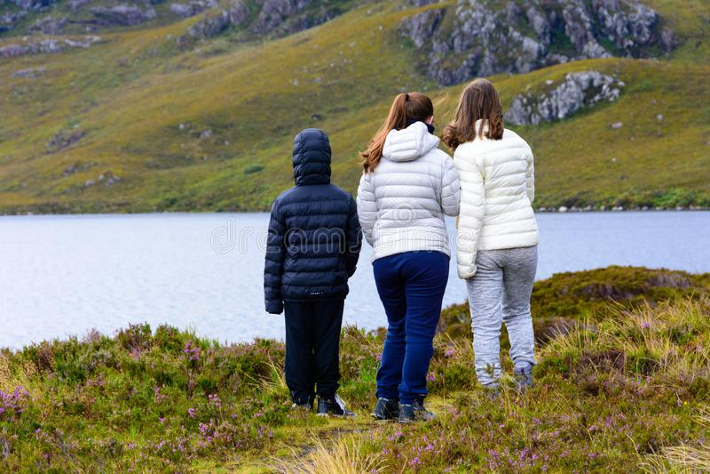 Fjord Tollie i Wester Ross, Skottland royaltyfria bilder
