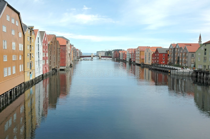 fjord Trondheim photo libre de droits