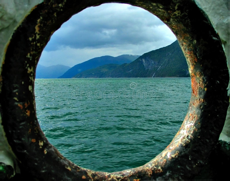 Fjord view stock photos