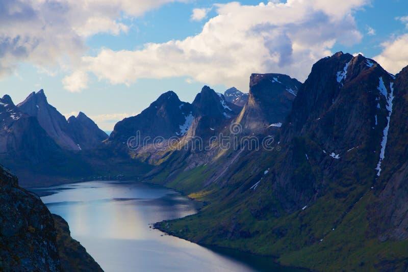 Fjord w Norwegia obraz stock