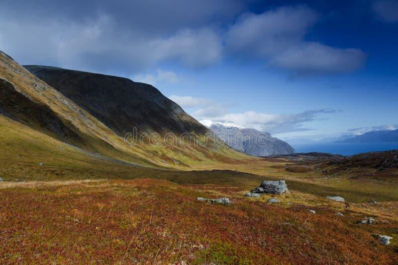 fjord widok zdjęcia stock