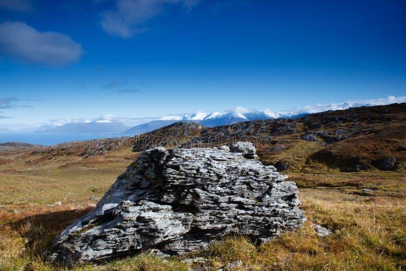 Fjordansicht stockbilder
