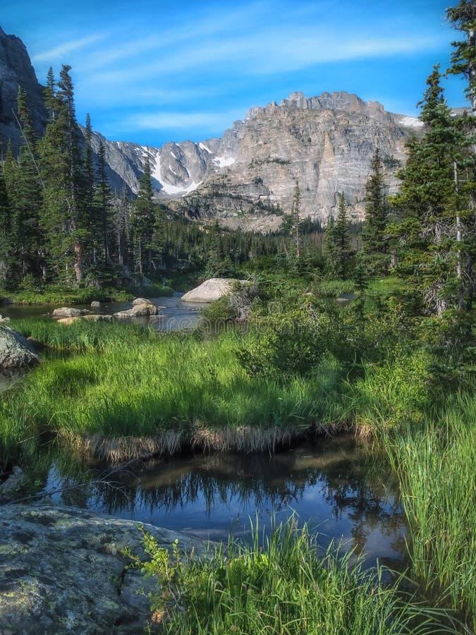 Fjorddal i Rocky Mountain National Park arkivbilder