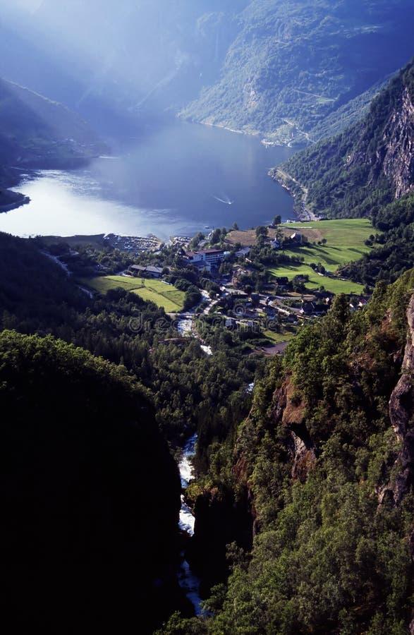 fjordlandcsape royaltyfria foton