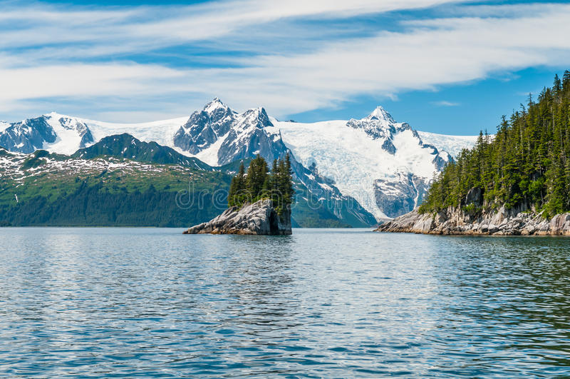 Fjords de Kenai photos stock