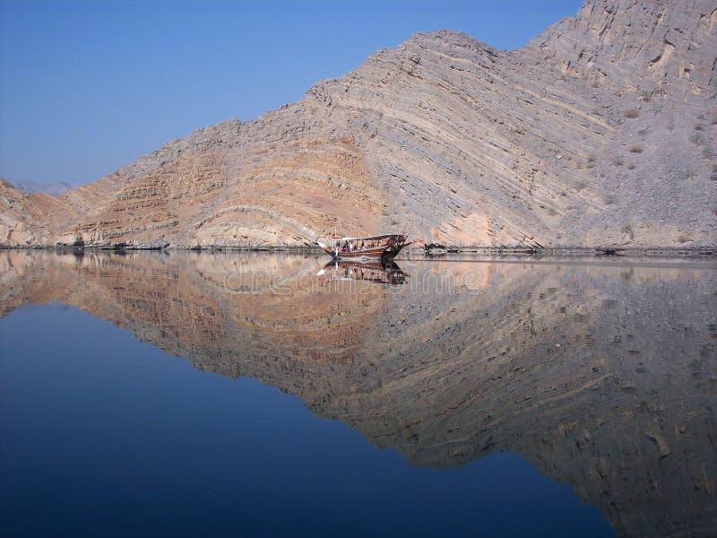 Fjords de Musandam do cruzeiro do Dhow, Oman imagem de stock royalty free