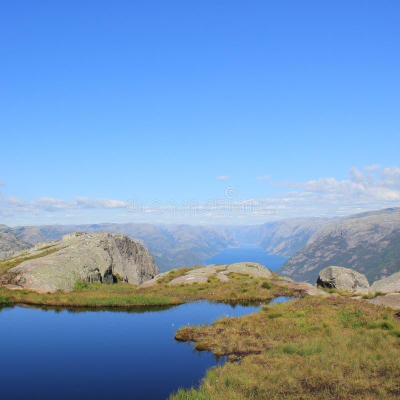 Fjords em Noruega imagens de stock