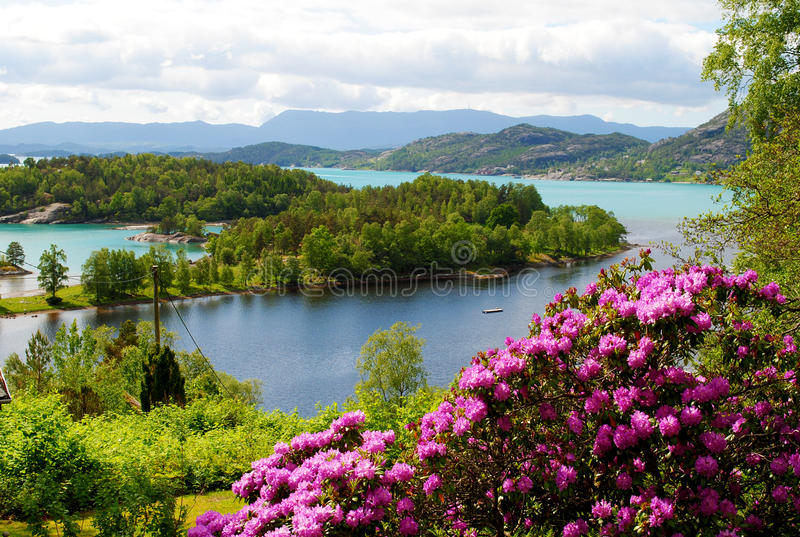 Fjords en Norvège photo stock