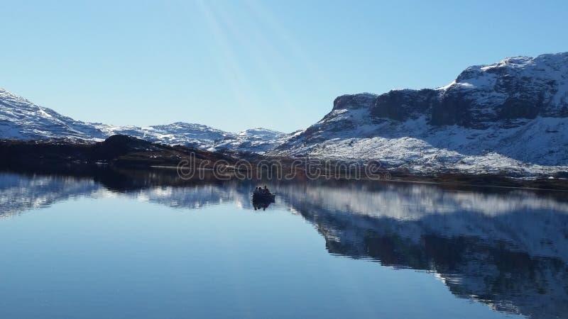 Fjords noruegueses fotografia de stock