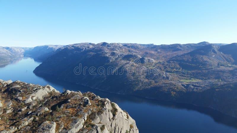 Fjords noruegueses foto de stock