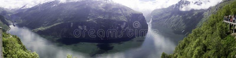 Fjords noruegueses fotografia de stock royalty free