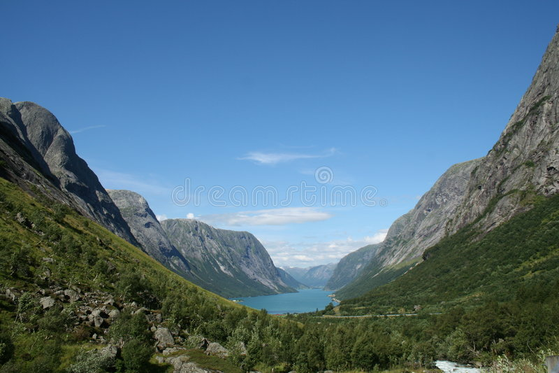 Fjords norvégiens image stock