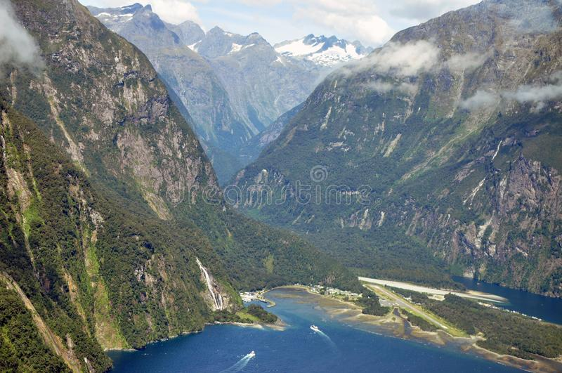 Fjorland from above stock photography