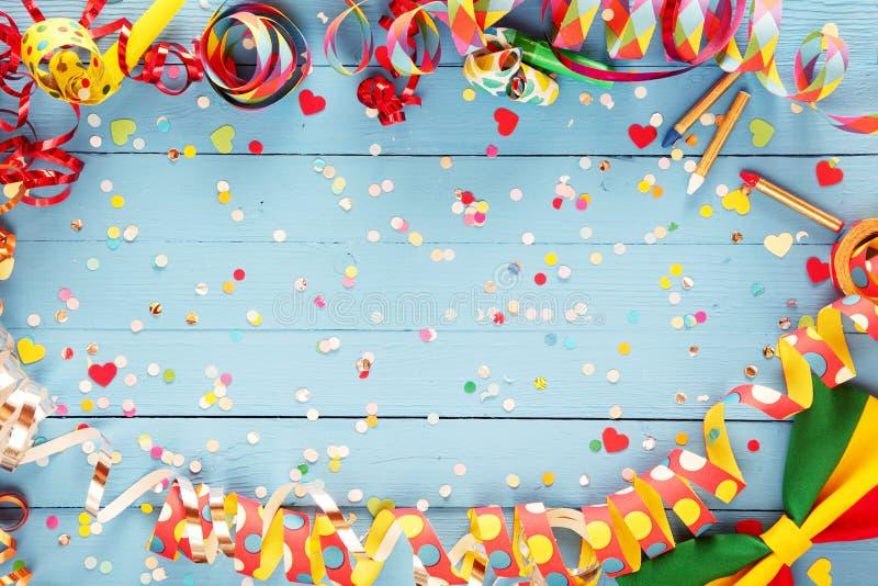 Flámula del partido y frontera coloridas de la corbata de lazo fotografía de archivo