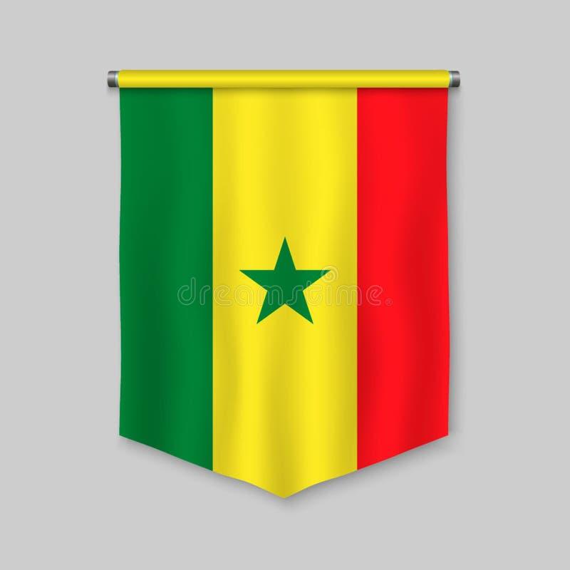 Flâmula com bandeira ilustração royalty free