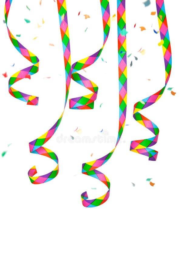 Flâmula de papel e confetti coloridos foto de stock royalty free