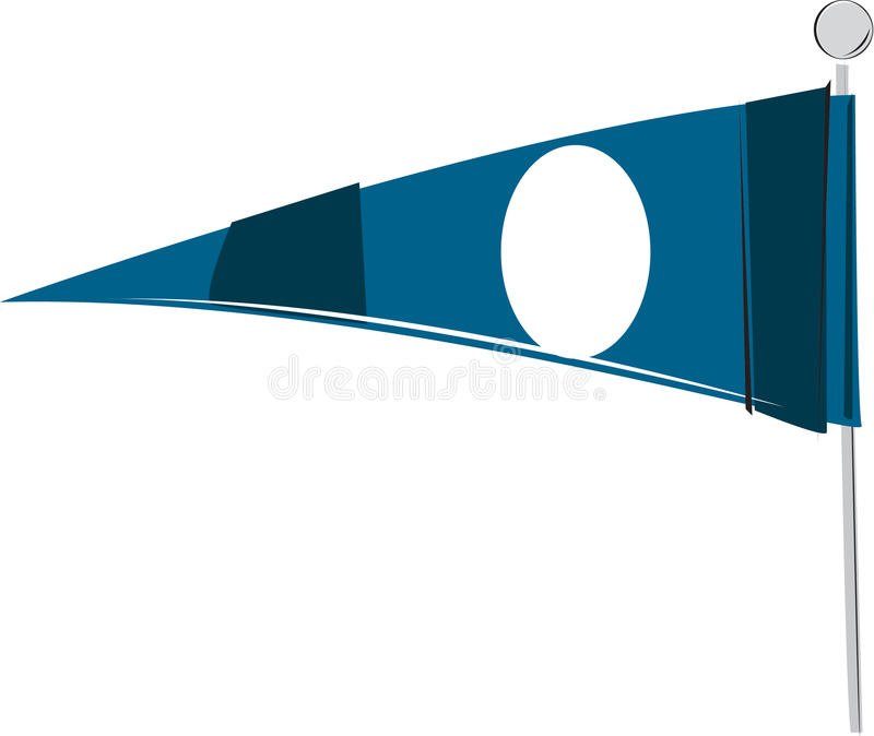 Flâmula Ilustrada Dos Esportes Imagens de Stock