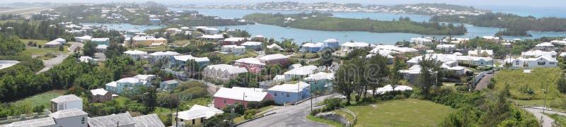 Flächenpanoramablick von Bermuda stockbild