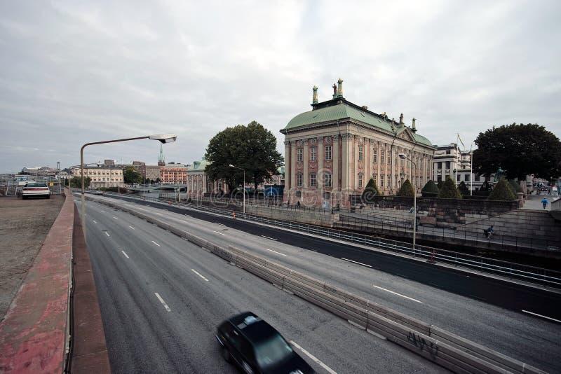 Fläck av den Stockholm gatan. arkivbilder