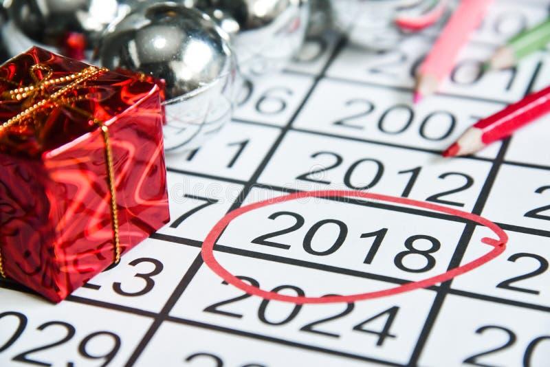 Fläck på nummer av de nya åren på 2018 royaltyfri foto
