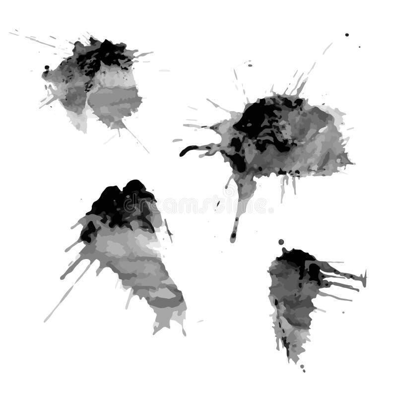 Fläckar av färgpulverfläckar vektor illustrationer