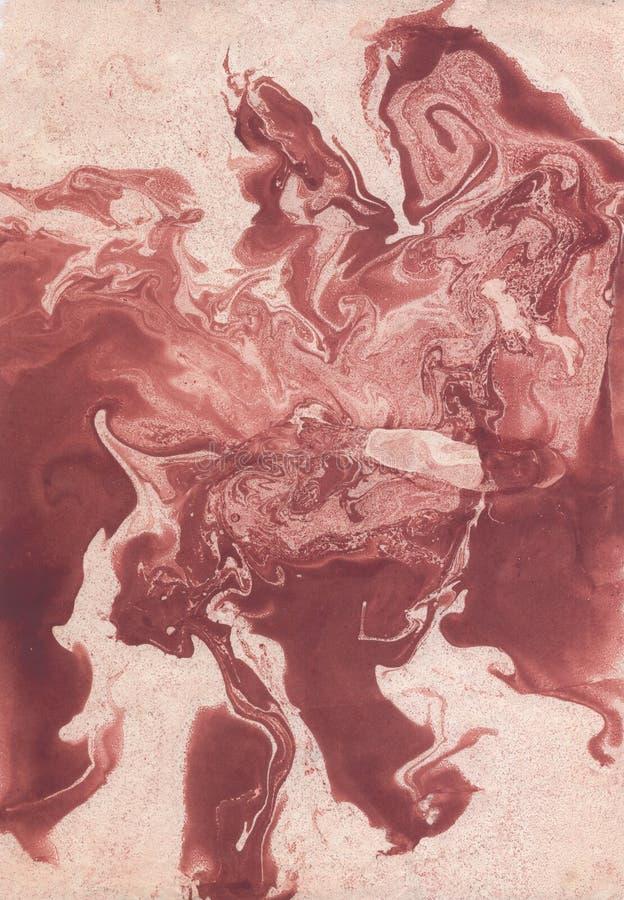 Fläckar av målarfärg på papper Texturen av färgstänken och fläckarna av målarfärg stock illustrationer