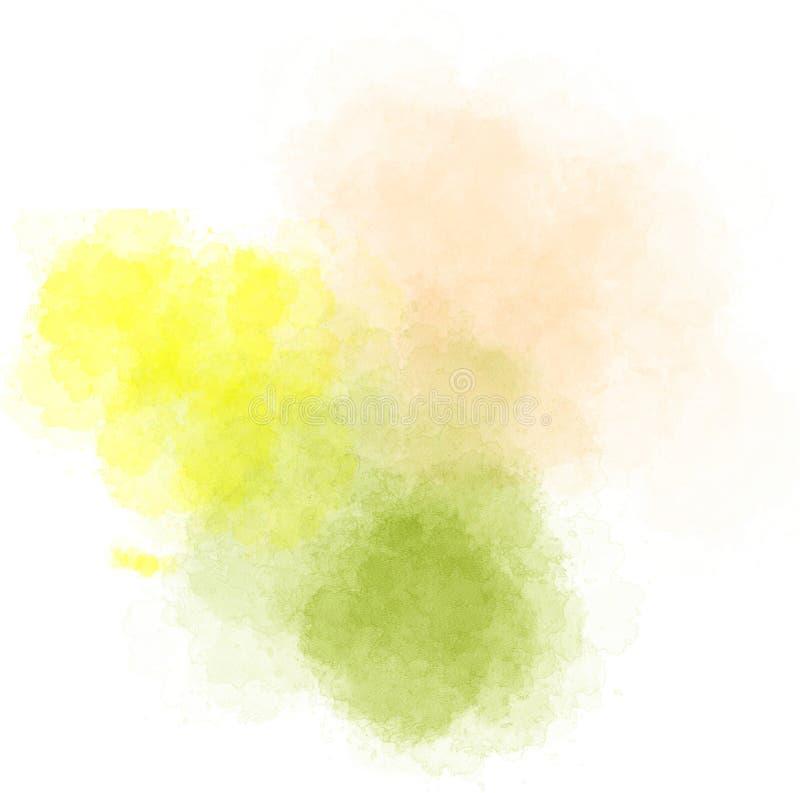 Fläckar av vattenfärgen stock illustrationer