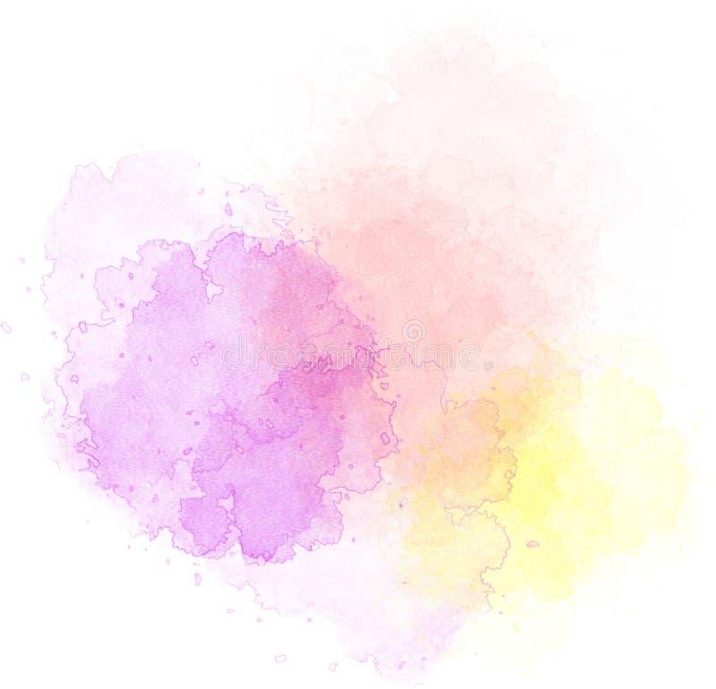 Fläckar av vattenfärgen royaltyfri illustrationer