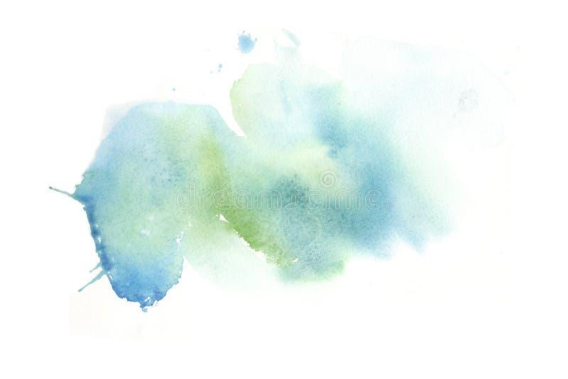 Fläckar för utdragen färgrik vattenfärg för hand abstrakta med fläckar royaltyfri illustrationer