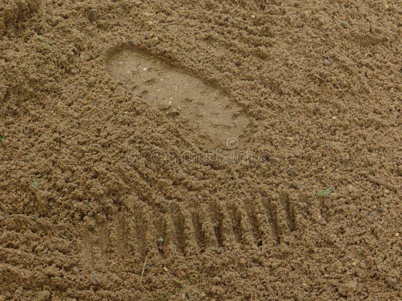 Fläckar på vått, efter ett regn sanden arkivfoto