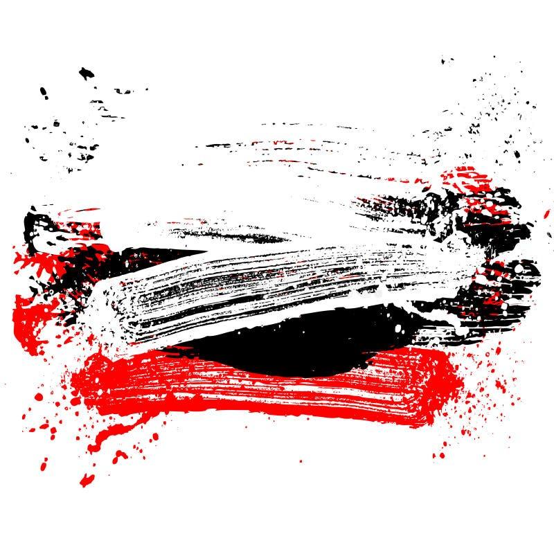 Fläckborste vita 01 royaltyfri illustrationer