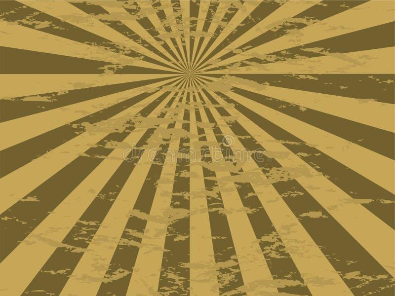 fläckig guld utstrålar vektor illustrationer