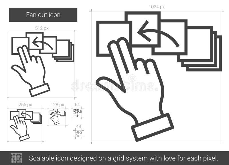 Fläkta ut linjen symbol vektor illustrationer
