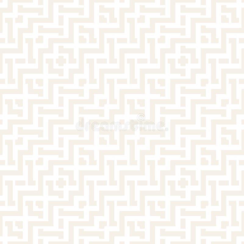 Fläta samman linjer subtilt galler Etnisk monokrom textur seamless vektor för modell royaltyfri illustrationer