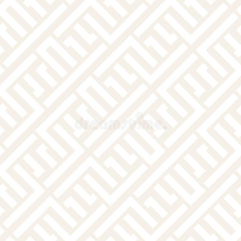 Fläta samman linjer subtilt galler Etnisk monokrom textur seamless vektorwhite för svart modell vektor illustrationer