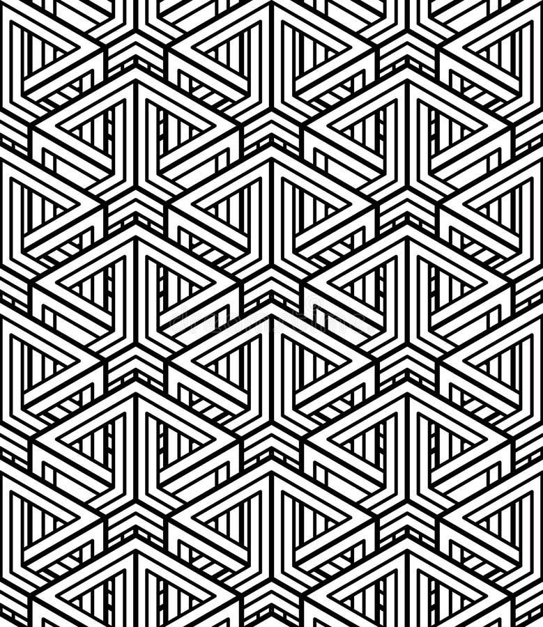 Flätar samman den ändlösa modellen för vanlig kontrast med tre-mått vektor illustrationer