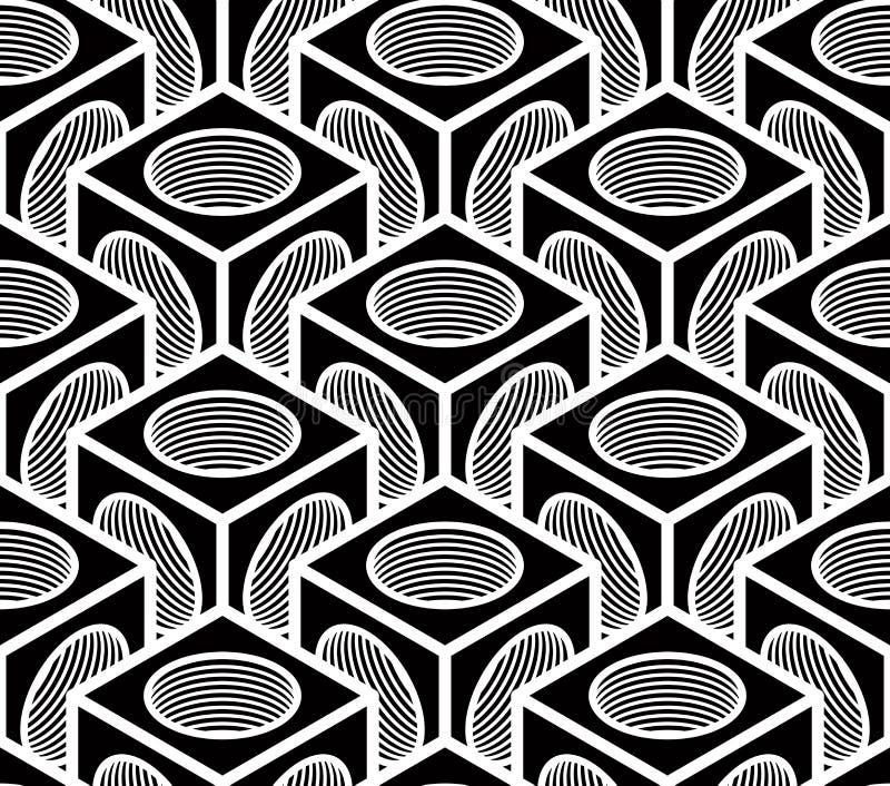 Flätar samman den ändlösa modellen för vanlig kontrast, tredimensionellt royaltyfri illustrationer