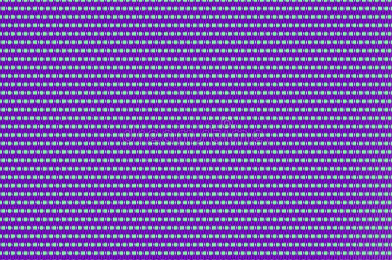 Flätat samman raster - celadon och purpurfärgat utsmyckat förtjäna stock illustrationer