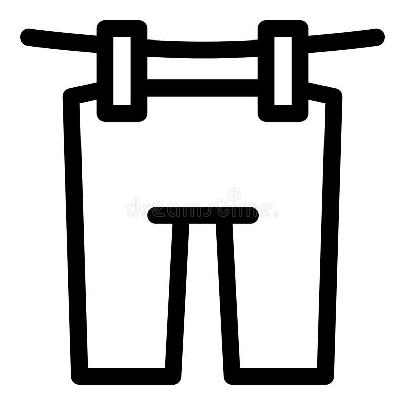 Flåsanden på repsymbolen, översiktsstil vektor illustrationer