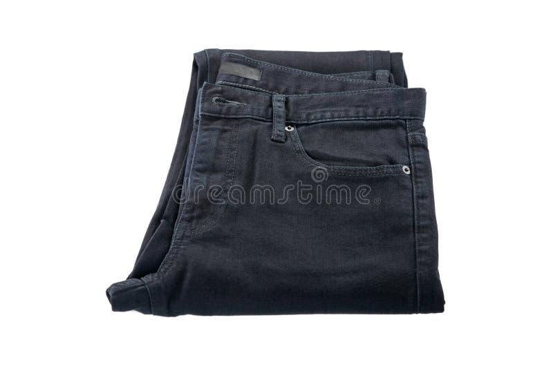 Flåsanden som göras av bomull Vikt jeansbyxa i svart, naturlig fa royaltyfria bilder