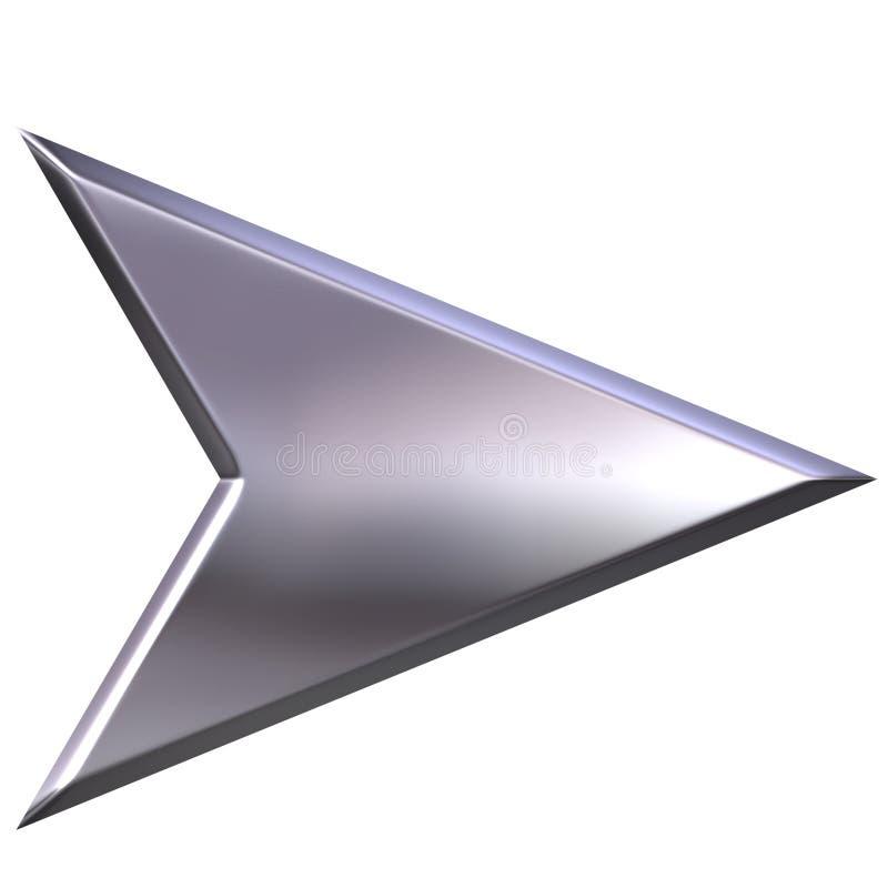 flèche 3D argentée illustration de vecteur