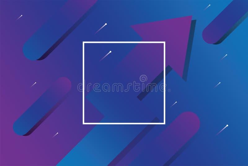 Flèche abstraite d'affaires avec le fond bleu et pourpre de vecteur de conception de couleur illustration de vecteur