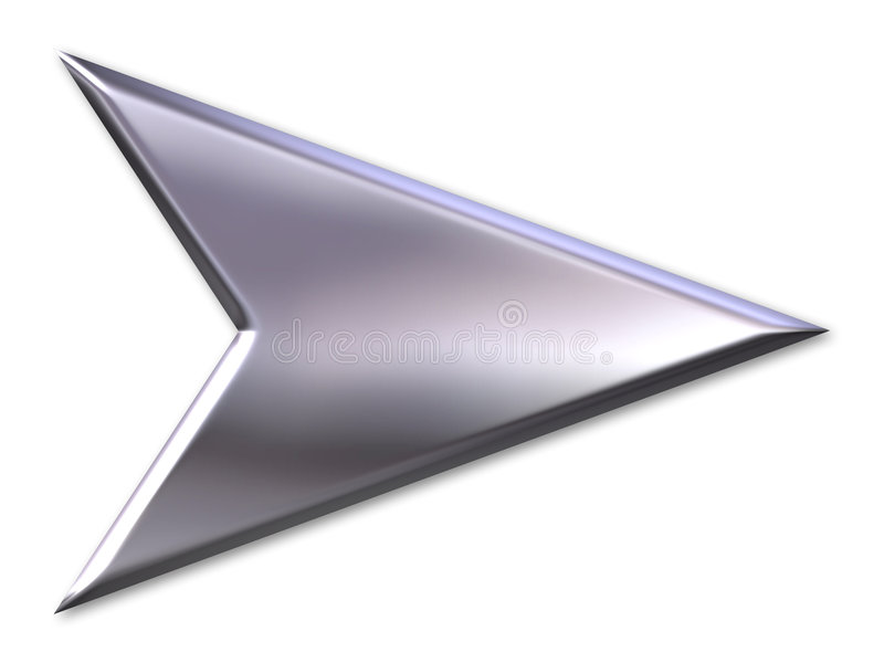Flèche argentée illustration stock