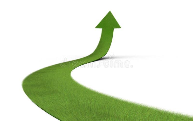 Flèche ascendante d'herbe illustration stock
