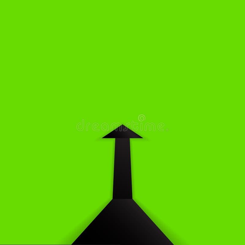 Flèche ascendante de noir images libres de droits