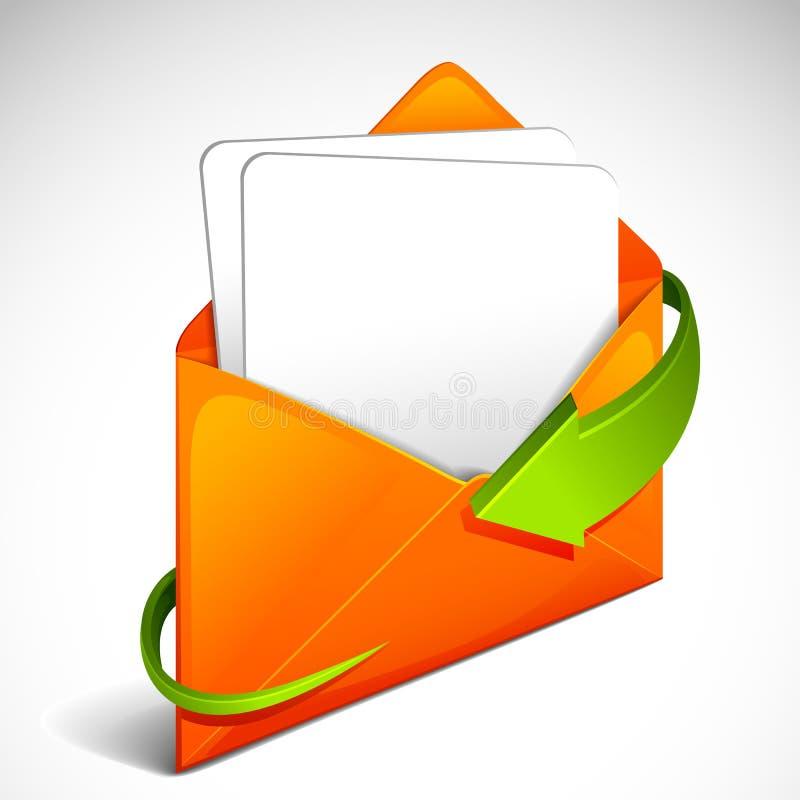 Flèche autour d'enveloppe illustration stock