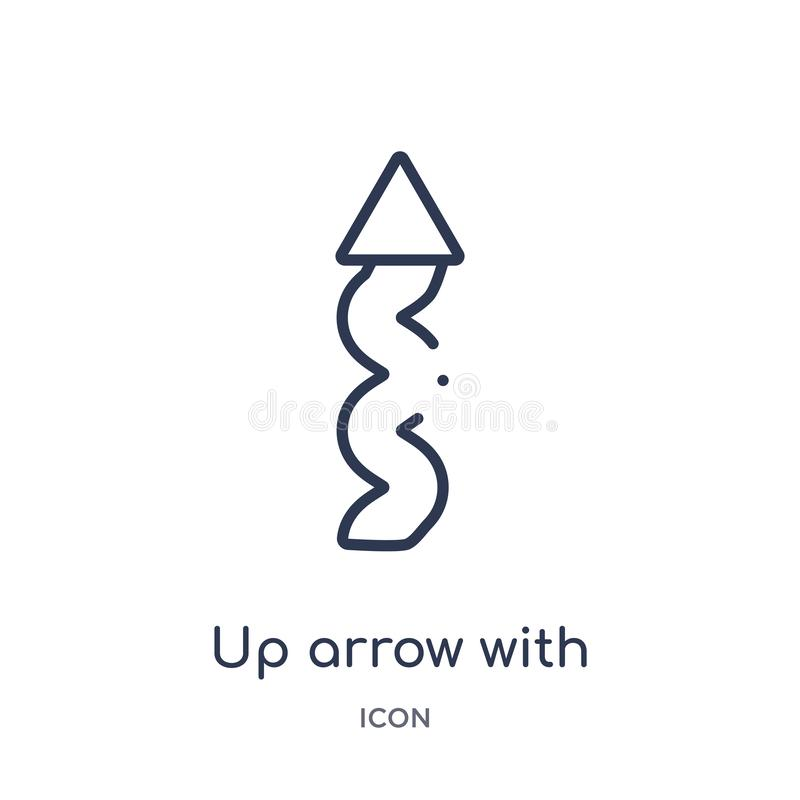 flèche avec l'icône de griffonnage de la collection d'ensemble d'interface utilisateurs Flèche mince de ligne avec l'icône de gri illustration de vecteur