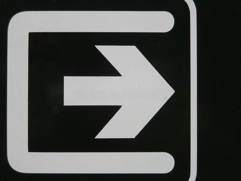 Flèche blanche image libre de droits