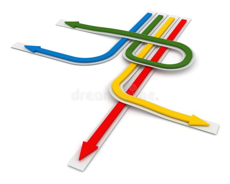 Flèche colorée illustration de vecteur
