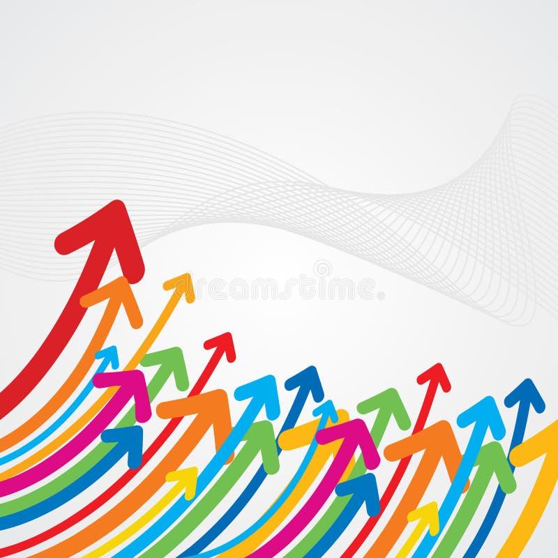 Flèche colorée ascendante illustration stock